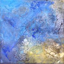 Marmormehl, Acrylmalerei, Beize, Malerei