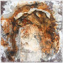 Zeitgenössische kunst, Leinöl, Struktur, Marmormehl