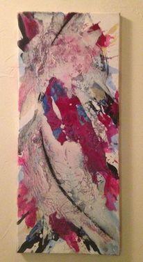Acrylmalerei, Schwarz weiß, Zeitgenössische kunst, Malerei