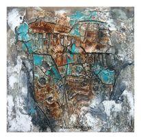 Aquarellmalerei, Sumpfkalk, Marmormehl, Firnis