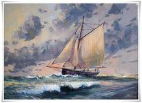 Malerei, Fischerboot