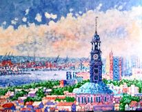 Hamburg, Hafen, Malerei,