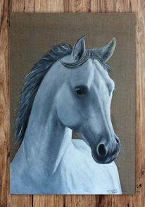 Pferde, Pferdeportrait, Malerei