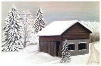 Schnee, Winter, Zeichnungen