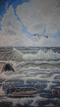 Wasser, Meer, Welle, Post