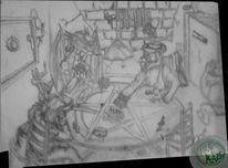 Zeichnung, Din a5, Bleistiftzeichnung,
