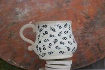Keramik, Töpferei, Keramische tasse, Weise tasse
