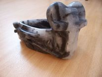 Skulptur, Pflanzen, Schale, Speckstein