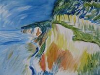 Landschaft, Acrylmalerei, Rügen, Malerei