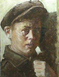 Prima, Portrait, Alla, Ölmalerei