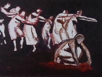 Gemälde, Ausdruckstanz, Tänzerinnen, Person