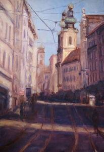 Donau, Österreich, Stadt, Malerei