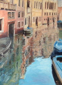 Venedig, Kanal, Pallazi, Spiegelung