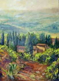 Landschaft, Realimen, Toskana, Gemälde