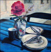 Pfingstrose, Sommer, Impressionismus, Morgen