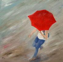 Rainy day, Regentag, Gegenständlich, Malerei