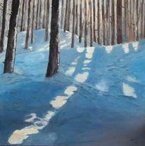 Wald, Natur, Sonnenlicht, Malerei