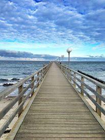 Meer, Wolken, Ostsee, Einsamkeit