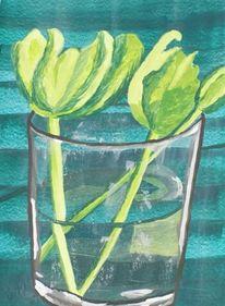 Malerei, Pflanzen, Tulpen