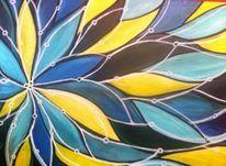 Pflanzen, Acrylmalerei, Blumen, Bunt