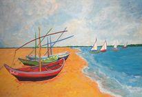 Acrylmalerei, Abstrakt, Landschaft, Malerei