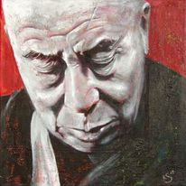 Lama, Dalai, Realismus, Acrylmalerei