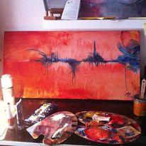 Inspiration, Blau, Musik, Orange