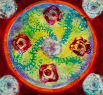Blumen, Dasein, Rot, Mandala