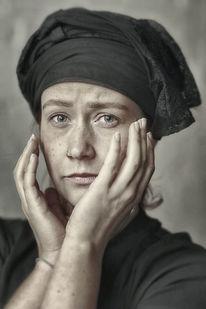 Vintage, Frau, Portrait, Fotografie