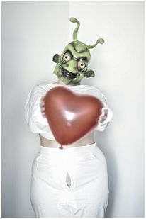 Alien, Surreal, Maske, Herz