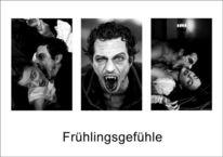 Fotografie, Tageslichtfotografie, Schwarzweiß, Vampir
