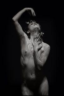 Körper, Frau, Skulptur, Farben