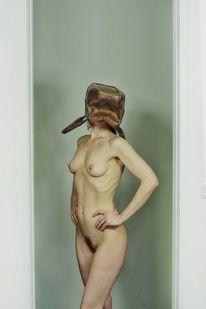 Tasche, Frau, Akt, Fotografie