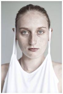 Portrait, Hemdchen, Gesicht, Frau