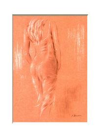 Frau, Erotik, Malerei, Zeichnung
