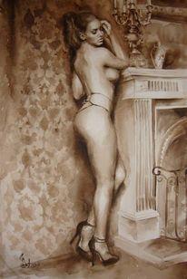 Aquarellmalerei, Akt, Aquarell, Zeichnung