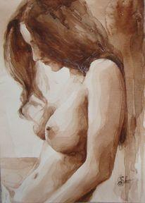 Akt, Aquarellmalerei, Aquarell, Zeichnung