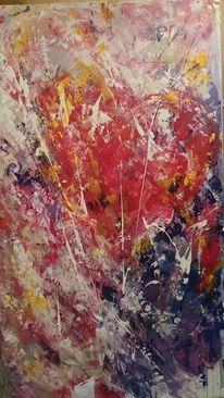 Liebe acrylmalerei herz, Gemälde, Abstrakt, Malerei