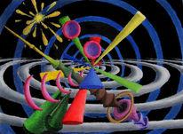 Synästhesie, Ölfarben, Malerei, Abstrakt