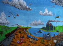 Kanone, Bombe, Ruine, Krieg