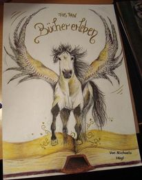 Pferde, Flügel, Buch, Pegasus
