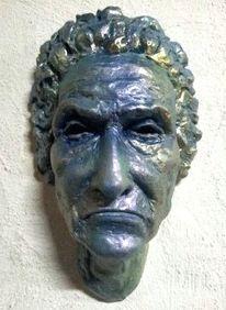 Skulptur, Frau, Schneekönigin, Plastik
