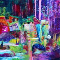 Acrylmalerei, Fantasialand, Malerei