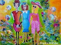 Frau, Acrylmalerei, Malerei,