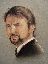 Pastellmalerei, Portrait, Menschen, Mann
