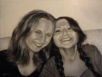 Ölmalerei, Frau, Menschen, Fotorealismus