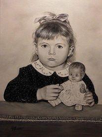 Menschen, Ölmalerei, Kind, Fotorealismus
