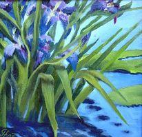 Wasser, Iris, Malerei