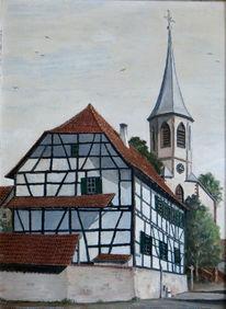 Kirche, Gebäude, Knielinger, Malerei