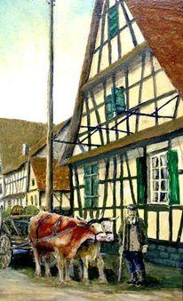 Kuhfuhrwerk, Rußheim, Malerei